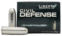 Liberty Civil Defense 45LC 78gr HP Ammo - 20 Rounds