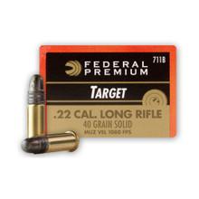 Federal Gold Medal 22LR 40gr RN Target Ammo - 50 Rounds
