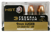 Federal 9mm Luger 124gr HST JHP Ammo - 20 Rounds
