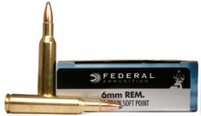 Federal Classic 6mm Remington 100gr Hi-Shok SP Ammo - 20 Rounds