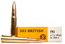 Sellier and Bellot .303 British 180gr FMJ Ammo - 20 Rounds