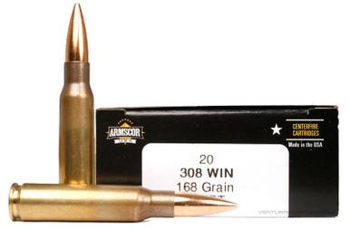 Armscor 308 Winchester 168gr HPBT Ammo - 20 Rounds