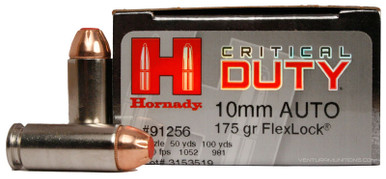 Hornady 10mm 175gr Critical Duty FlexLock Ammo - 20 Rounds