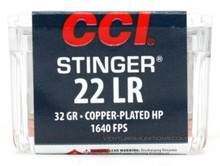 CCI Stinger 22LR 32gr CPHP Ammo - 50 Rounds