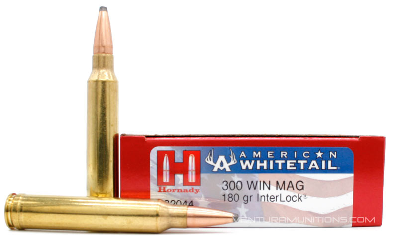 Hornady American Whitetail  300 Win Mag 180gr InterLock SP Ammo - 20 Rounds