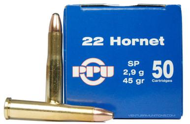 Prvi Partizan 22 Hornet 45gr Soft Point Ammo - 50 Rounds
