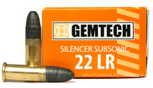 Gemtech 22LR 42gr Silencer Subsonic RN Ammo - 50 Rounds