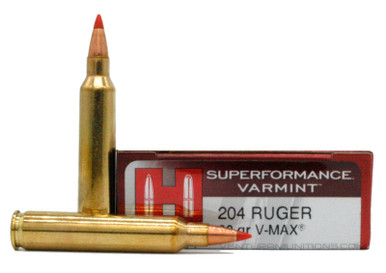 Hornady Superformance 204 Ruger 32gr Varmint V-Max Ammo - 20 Rounds