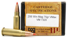 Ventura Heritage .256 Win Mag 75gr VMAX Ammo - 20 Rounds