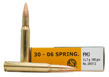 Sellier & Bellot 30-06 Springfield 180gr FMJ Ammo - 20 Rounds