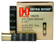 "Hornady Critical Defense .410ga Slug/Round Ball 2.5"" Triple Defense Ammo - 20 Rounds"