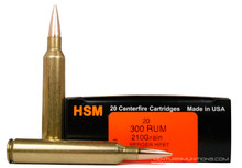 HSM 300 RUM 210gr Berger Match Hunting VLD Ammo - 20 Rounds