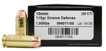 Lehigh Defense 10mm Auto 115gr Xtreme Defense Ammo - 20 Rounds