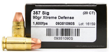 Lehigh Defense 357 Sig 90gr Xtreme Defense Ammo - 20 Rounds