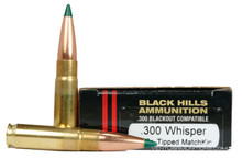 Black Hills 300 Whisper 125gr Sierra TMK Ammo - 20 Rounds
