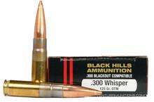 Black Hills 300 Whisper 125gr Sierra OTM Ammo - 20 Rounds