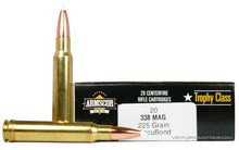 Armscor USA Trophy Class 338 Win Mag 225gr Accubond Ammo - 20 Rounds