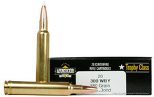 Armscor USA Trophy Class 300 Weatherby Magnum 180gr Accubond Ammo - 20 Rounds