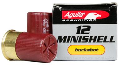 "Aguila 12ga 1-3/4"" 1 oz 4+1 Buckshot Minishell Shotshell Ammo - 20 Rounds"