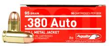 Aguila 380 ACP 95gr FMJ Ammo - 50 Rounds