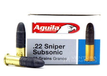 Aguila 22LR Sniper SubSonic 60gr LRN Ammo - 50 Rounds
