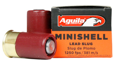 "Aguila 12ga 1-3/4"" 7/8oz Slug Minishell Shotsell Ammo - 20 Rounds"