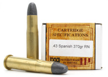 Ventura Heritage 43 Spanish 370gr RN Ammo - 20 Rounds