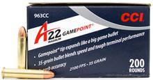 CCI A22 22 WMR 35gr GamePoint Ammo - 200 Rounds