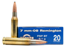 Prvi Partizan 7mm-08 Remington 140gr PSP Ammo - 20 Rounds