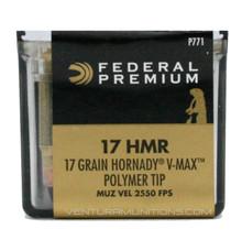 Federal Premium V-Shok 17 HMR 17gr V-Max Ammo - 50 Rounds