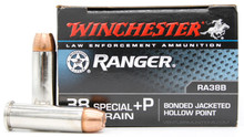 Winchester Ranger .38 Special 130gr PDX1 +P JHP Ammo - 50 Rounds