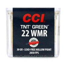 CCI 22 WMR TNT 30gr Green Tip Lead-Free HP Ammo - 50 Rounds