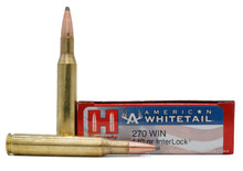 Hornady American Whitetail 270 Winchester 140gr InterLock SP Ammo - 20 Rounds