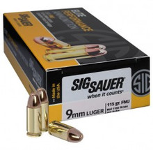 Sig Sauer Elite Performance 9mm 115gr Ball FMJ Ammo - 50 Rounds