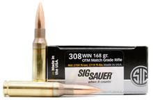 Sig Sauer Elite Performance 308 Winchester 168gr Match Grade OTM Ammo - 20 Rounds