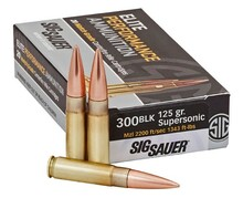 Sig Sauer Elite Performance 300 Blackout 125gr Match Grade OTM Ammo - 20 Rounds