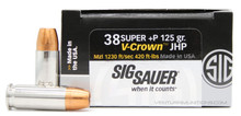 Sig Sauer Elite Performance .38 Super 125gr V-Crown JHP +P Ammo - 20 Rounds