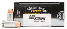 Sig Sauer Elite Performance 40 S&W 180gr V-Crown JHP Ammo - 20 Rounds