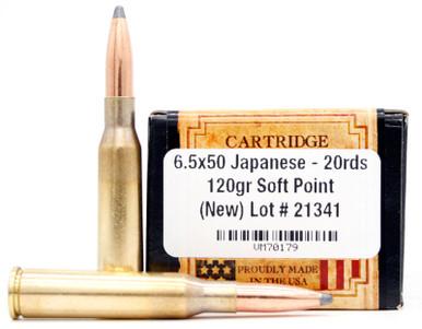 Ventura Heritage 6.5x50 Japanese 120gr SP Ammo - 20 Rounds