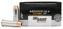 Sig Sauer Elite Performance 44 Magnum 240gr V-Crown JHP Ammo - 20 Rounds