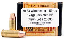 Ventura Heritage 9x23 Win 124gr JHP Ammo - 50 Rounds