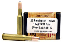 Ventura Heritage 25 Remington 117gr SP Ammo - 20 Rounds