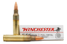 Winchester USA 5.56 NATO 55gr FMJ Ammo - 20 Rounds