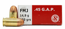 Sellier & Bellot 45 GAP 230gr FMJ Ammo - 50 Rounds