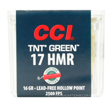 CCI 17 HMR 16gr TNT Green HP Ammo - 50 Rounds