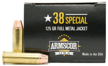 Armscor 38 Special 125gr FMJ Ammo - 50 Rounds