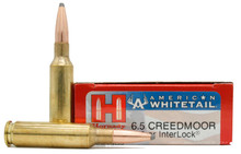 Hornady American Whitetail 6.5 Creedmoor 129gr Interlock BTSP Ammo - 20 Rounds