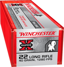 Winchester Super-X Power Point 22LR 40gr HV Ammo - 100 Rounds