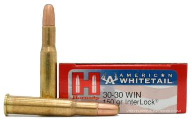 Hornady American Whitetail 30-30 Win 150gr Interlock RN Ammo - 20 Rounds