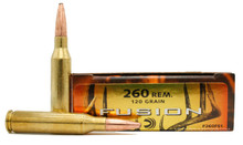 Federal Fusion 260 Remington 120gr Bonded Spitzer BT Ammo - 20 Rounds